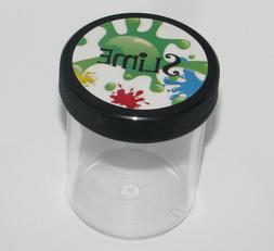 10 Slime Storage Jars 4 oz  Clear Containers For All Your Gl