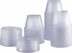 Plastic Disposable Portion Cups With Lids Souffle Cups Jello