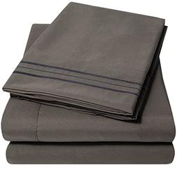 1500 Supreme Collection Extra Soft Full Sheets Set, Gray - L