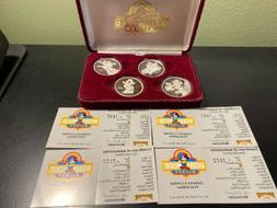 1989 DISNEY Hollywood Mickey 4-Coin Set  .999 Silver Proof C