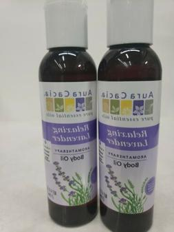 2 Aura Cacia Relaxing Lavender Body Oil, 4oz,, 2 Pack
