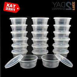 20 4 Oz Reusable Plastic Storage Containers Cups Jars With L