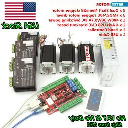 3 Axis USB NEMA23 CNC Controller Kit stepper motor 425oz 112
