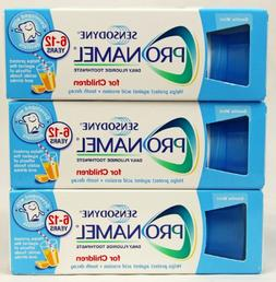 3 Packs of Sensodyne Pronamel Children Daily Fluoride Toothp