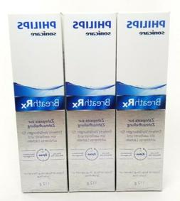 3 BreathRX Philips Sonicare Whitening Toothpaste 4oz LABEL F
