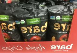 4 - 14oz Bags Bare Organic Baked Apple Chips Fuji & Reds 12/