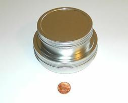 4 oz & 8 oz Round Shallow Survival Tin Containers With Screw