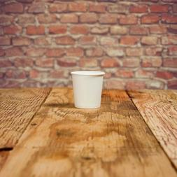 4 oz Paper Coffee Cups - White Hot Drink Disposable Cups - H