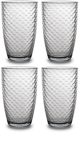 Circleware Hive Drinking Glasses Set of 4, 16 ounce, Hive Ed