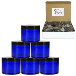 4oz/120g/120ml High Quality Acrylic Container Jars - Blue wi