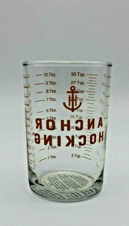 ANCHOR HOCKING 5 oz Clear Glass Measuring Cup Bar Tools-Jigg