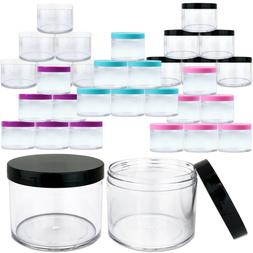 6pcs 4oz/120g High Quality Thick Acrylic Plastic Jar Sample
