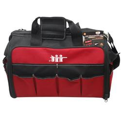 IIT 91130 18-Inch Soft Side Nylon Tool Bag with Plastic Orga