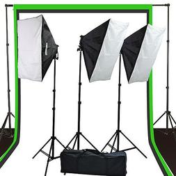 Fancierstudio 2400 watt lighting kit softbox light kit video