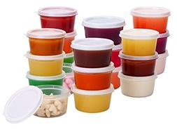 Greenco Mini Food Storage Containers, Condiment, and Sauce C