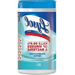 Lysol Disinfecting Wipes, Ocean Fresh, 80 Count