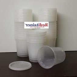 Reditainer 24 oz. Deli Food Containers w/ Lids - Pack of 30