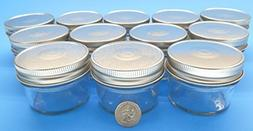 4 oz Mason Jars with Smooth Sides -Easy to Label with Silve