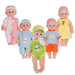 Set of 5 for 11-12-13-14 Inch Newborn Reborn Alive Doll Baby