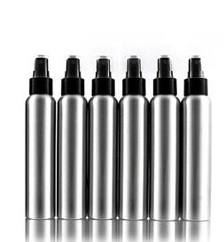 Aluminum Empty Refillable Fine Mist Spray Bottles - 6 pack