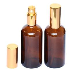Amber Glass Spray Bottle 4oz for Cologne,Perfume,Essential O
