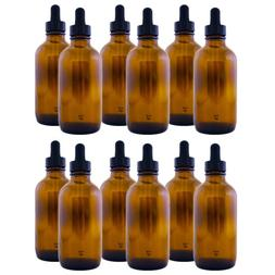 Amber Glass Bottle 4oz with Dropper