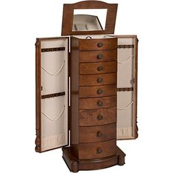Best Choice Products Armoire Cabinet Box Storage Chest Stand