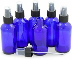 Blue Glass Spray Bottles 4 Oz Cobalt Fine Mist Essential Oil
