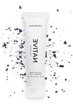 Native Charcoal Toothpaste 4 OZ Sulfate Free Paraben Free