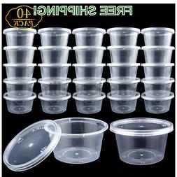 40 Pack 4oz Big Size Clear Slime Foam Ball Big Storage Conta