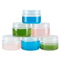 Clear 4 Ounce Plastic Jar Containers, 6 Pack of Plastic Stor