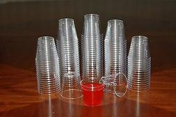 1 ounce Clear Plastic Shot Glasses - Box of 500