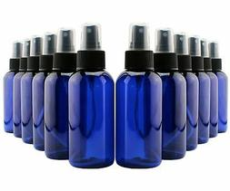 4oz Blue Plastic PET Fine Mist Spray Bottles ; Labels Includ