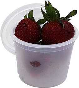Vito's famous Deli Container with Lid, 4 Ounce  | Leak resis