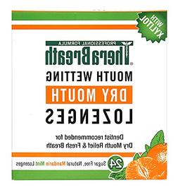 TheraBreath Dentist Recommended Dry Mouth Lozenges, Sugar Fr