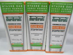 TheraBreath Dentist Recommended Fresh Breath Toothpaste, 4 o
