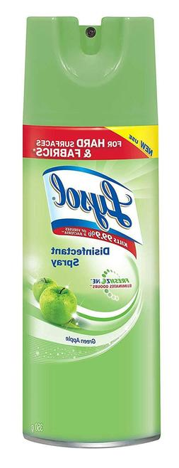 Lysol Disinfectant Spray 12.5oz Green Apple Breeze Pack