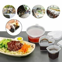 Disposable Plastic Takeaway Sauce Cup Containers Food Box wi