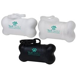Lillian Ruff Dog Waste Bag Dispenser with Leash Clip by Disp