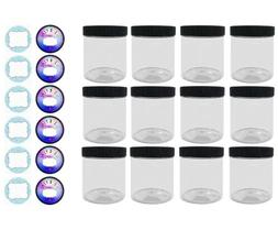 Empty Slime Storage Containers - 12 Pack, 4oz Clear Jars 2 S
