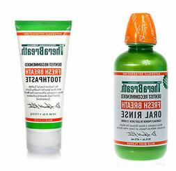 THERABREATH  FRESH BREATH 4 OZ. TOOTHPASTE and 16 0z. ORAL R