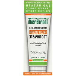 TheraBreath, Fresh Breath Toothpaste, Mild Mint Flavor, 4 oz