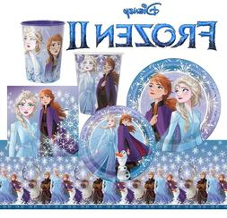 FROZEN II Birthday Plates Napkins Cups Tableware Tablecover