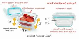 Glass Baby Food Storage Containers - 4 oz, BPA Free- Small F