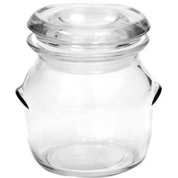 Anchor Hocking 4 Ounce Glass Crock Jar with Lid, Set of 6