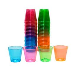 Party Essentials Hard Plastic 1-Ounce Shot Glasses, 50-Count
