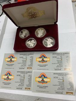 Hollywood Mickey Mouse, 1 oz Silver Coin Set of 4, Original