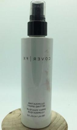 Cover FX Illuminating Setting Spray 4 Oz UNBOXED White Bottl