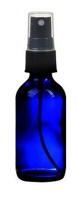 1 NEW 4 oz. Cobalt Blue Boston Round GLASS Spray Bottle with