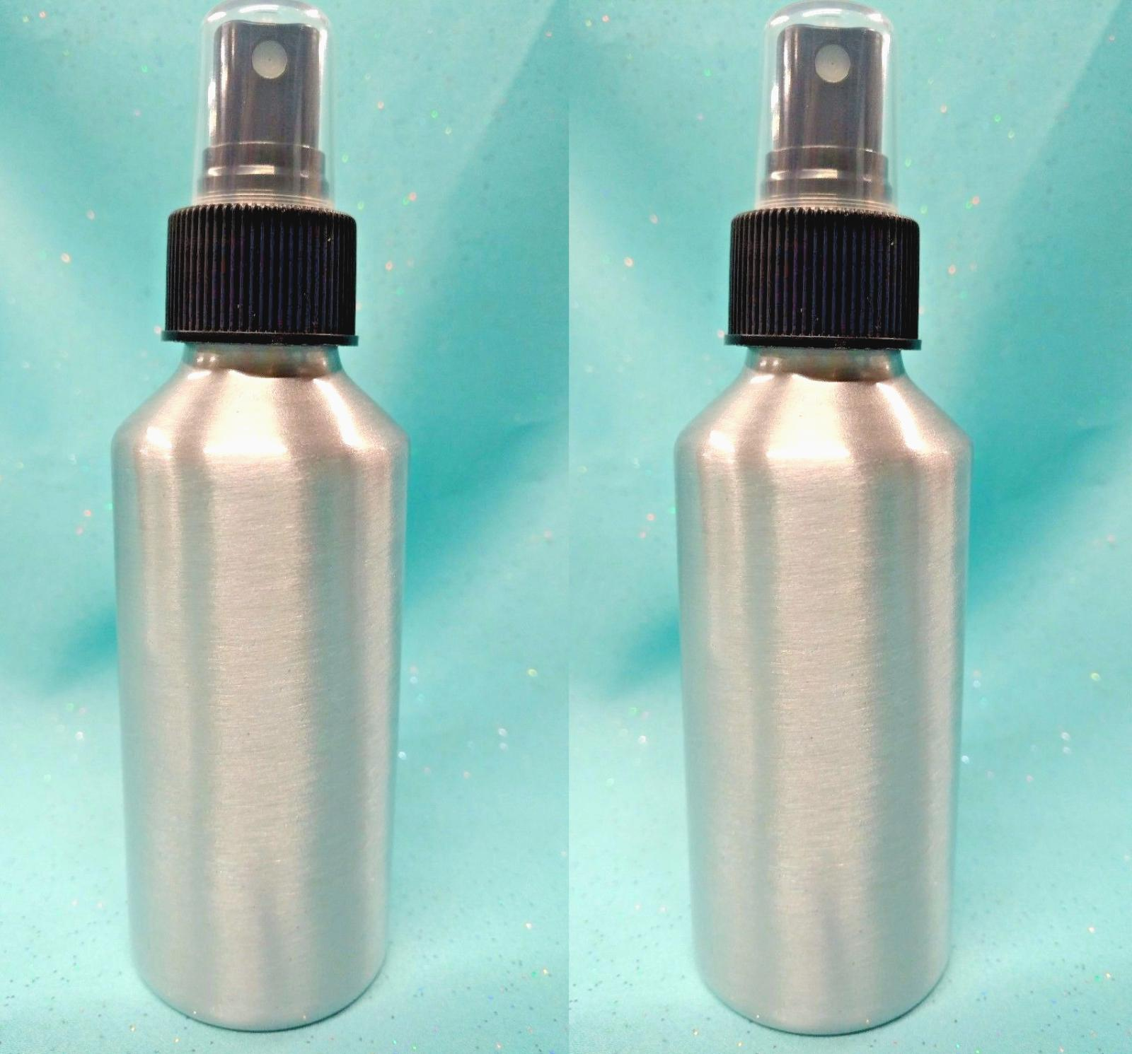 2 - 4 oz Silver ALUMINUM Fine Mist Spray Bottle Sprayer Atom